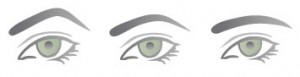 3 différentes formes de sourcils